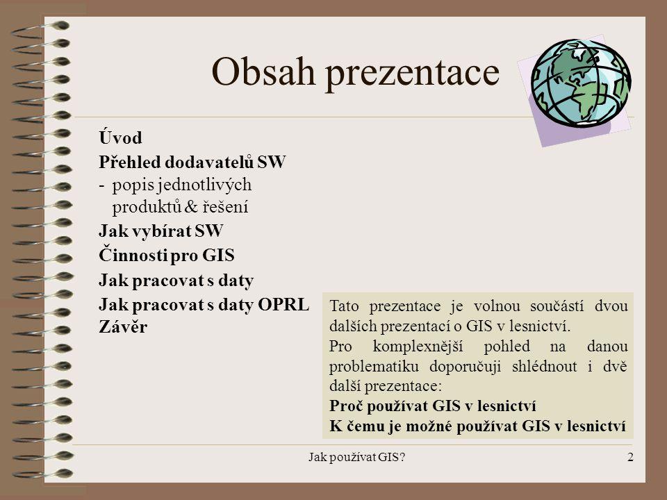 Obsah prezentace Úvod Přehled dodavatelů SW