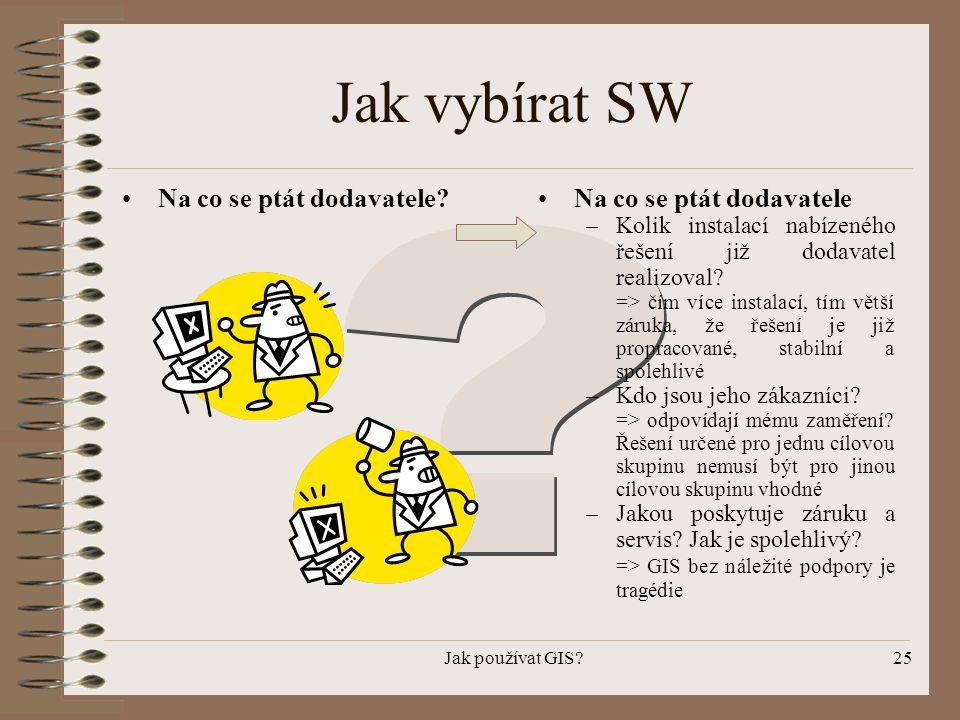 Jak vybírat SW Na co se ptát dodavatele Na co se ptát dodavatele