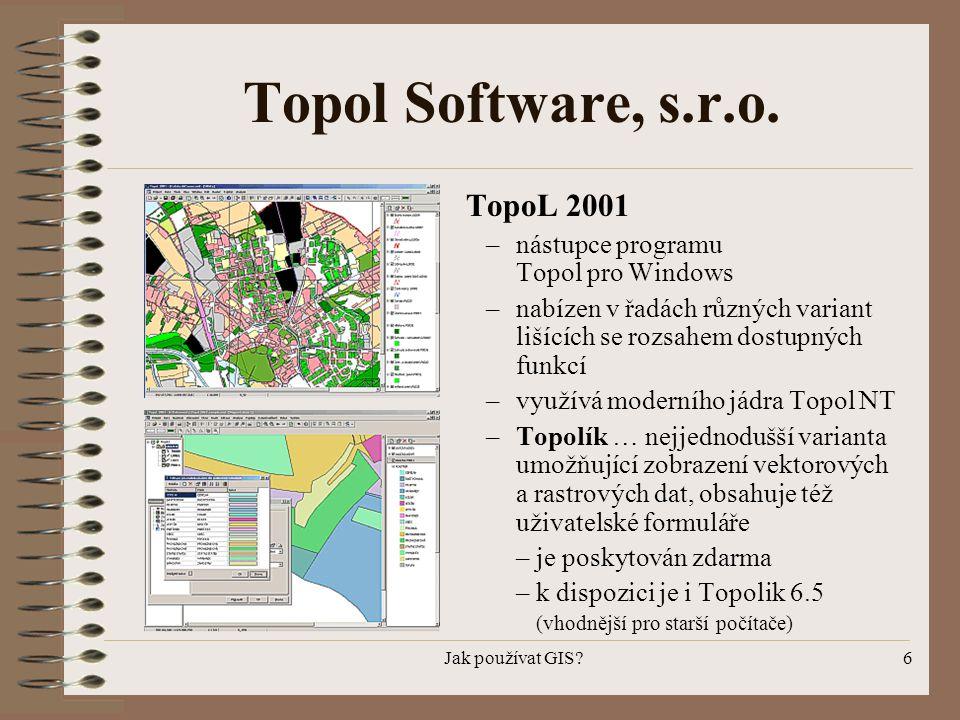 Topol Software, s.r.o. TopoL 2001 nástupce programu Topol pro Windows