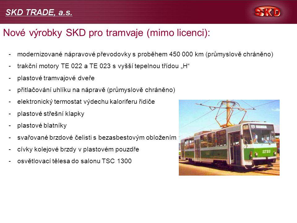 Nové výrobky SKD pro tramvaje (mimo licenci):