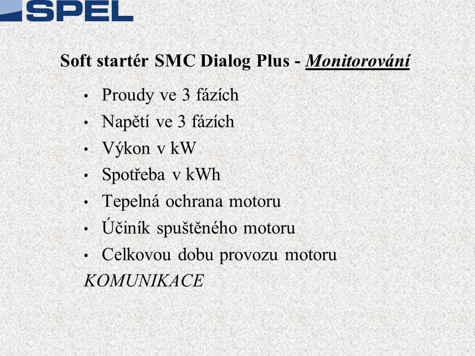 Soft startér SMC Dialog Plus - Monitorování