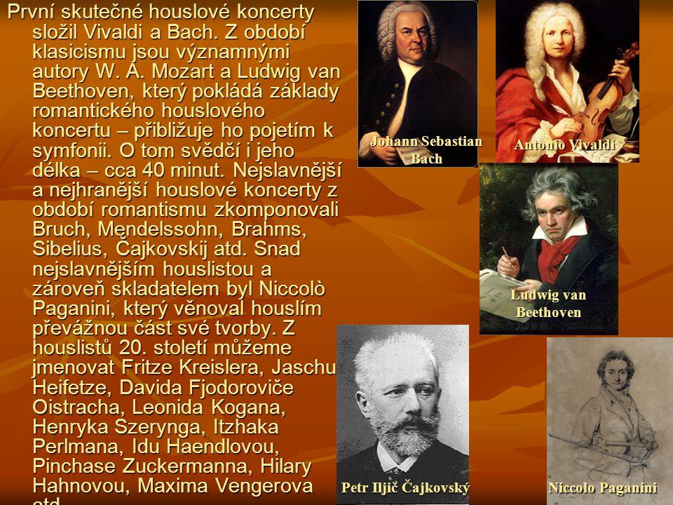 První skutečné houslové koncerty složil Vivaldi a Bach