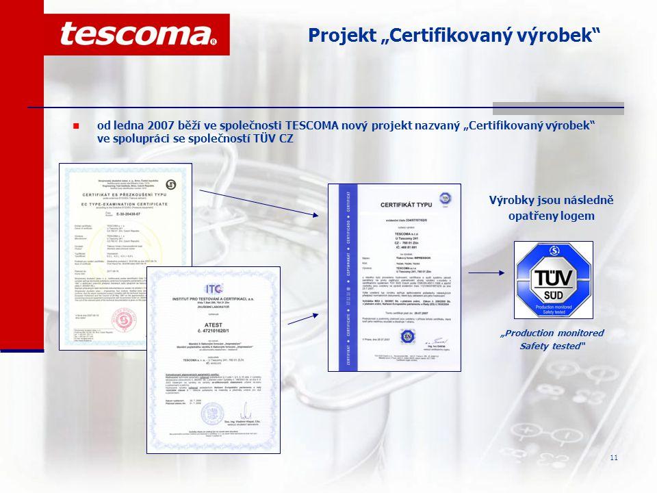 """Projekt """"Certifikovaný výrobek"""
