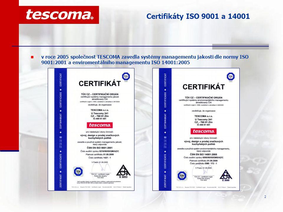 Certifikáty ISO 9001 a 14001