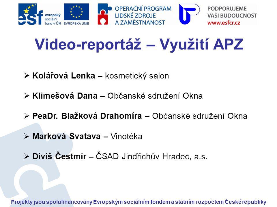 Video-reportáž – Využití APZ