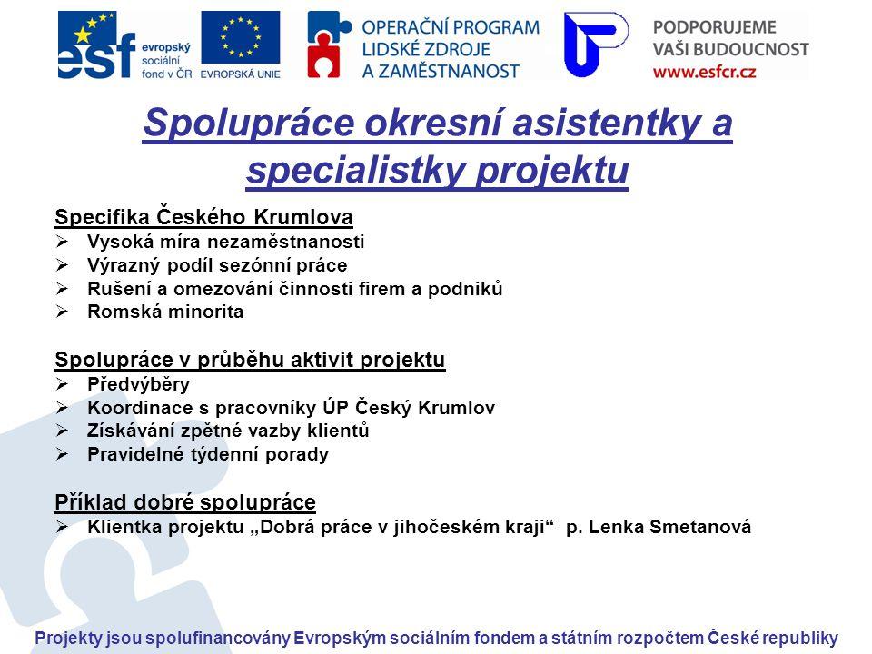 Spolupráce okresní asistentky a specialistky projektu