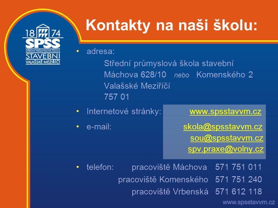 Kontakty na naši školu: