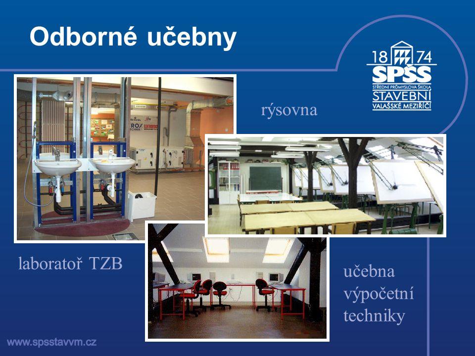 Odborné učebny rýsovna laboratoř TZB učebna výpočetní techniky