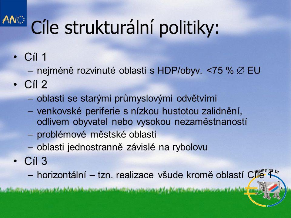 Cíle strukturální politiky: