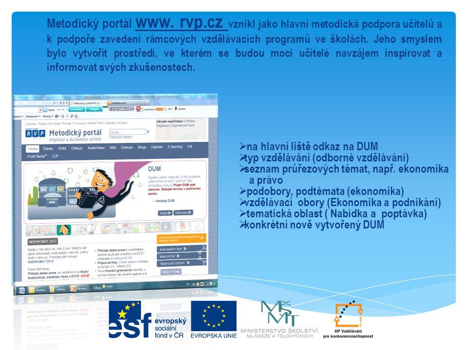 Metodický portál www. rvp