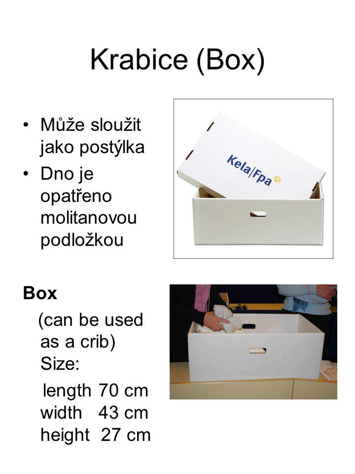 Krabice (Box) Může sloužit jako postýlka
