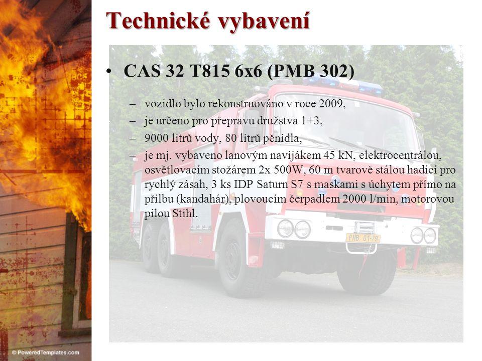 Technické vybavení CAS 32 T815 6x6 (PMB 302)