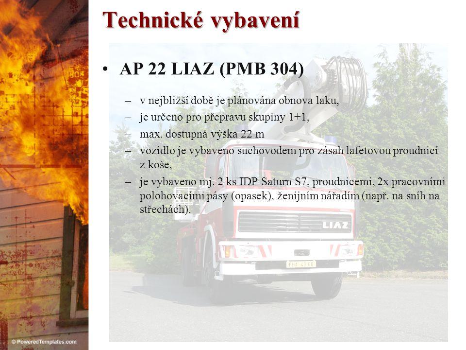 Technické vybavení AP 22 LIAZ (PMB 304)