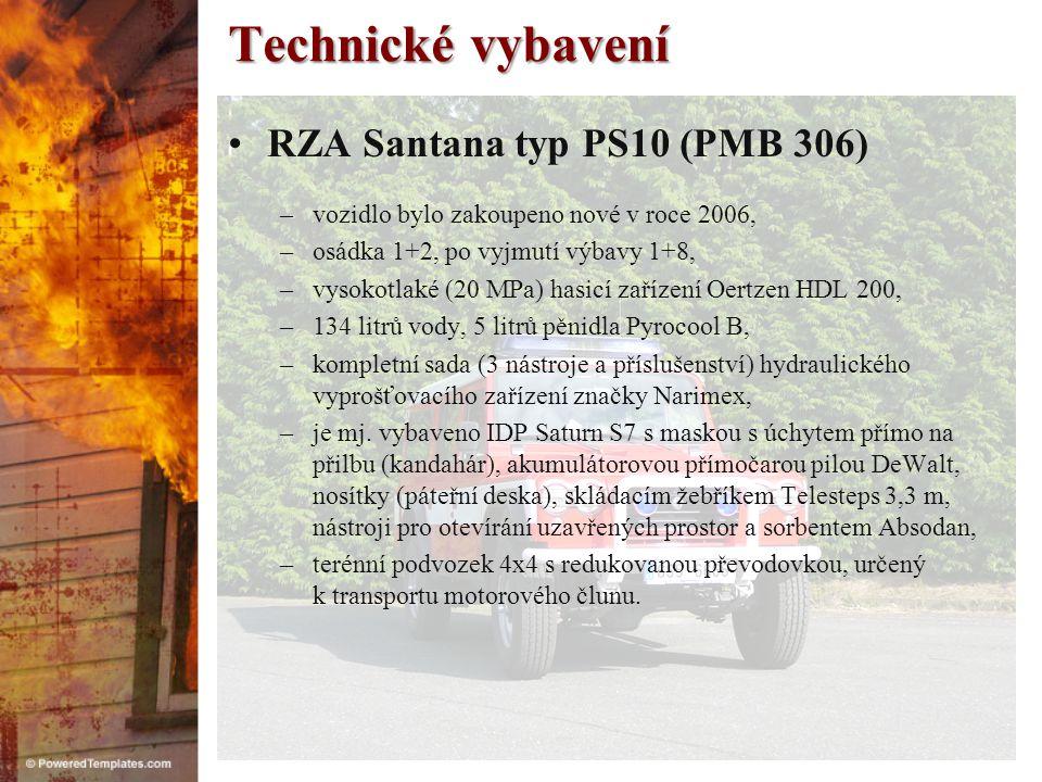 Technické vybavení RZA Santana typ PS10 (PMB 306)