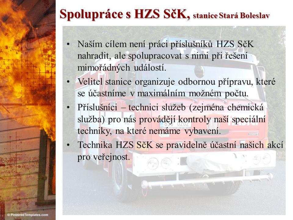 Spolupráce s HZS SčK, stanice Stará Boleslav