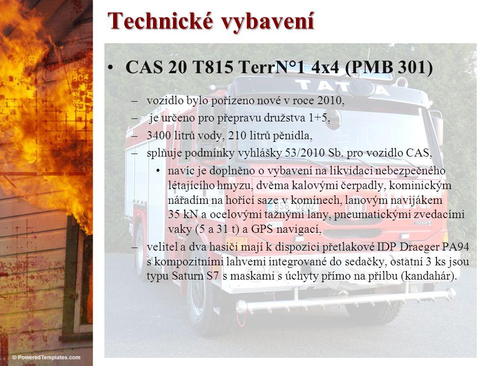 Technické vybavení CAS 20 T815 TerrN°1 4x4 (PMB 301)