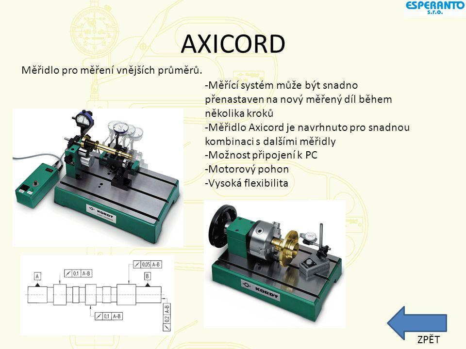 AXICORD Měřidlo pro měření vnějších průměrů.