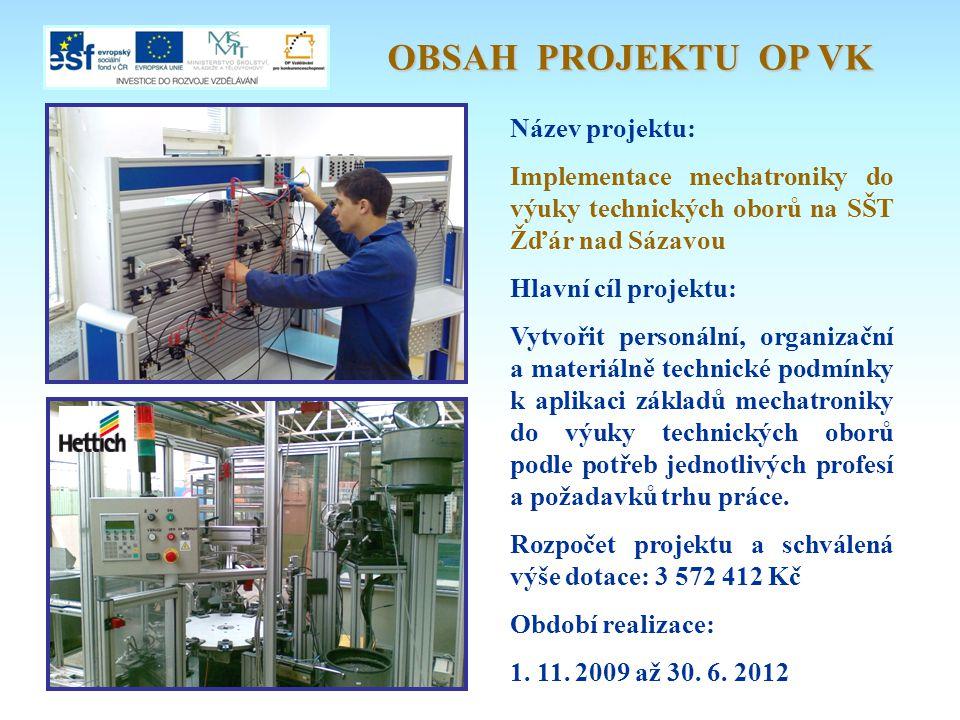 OBSAH PROJEKTU OP VK Název projektu: