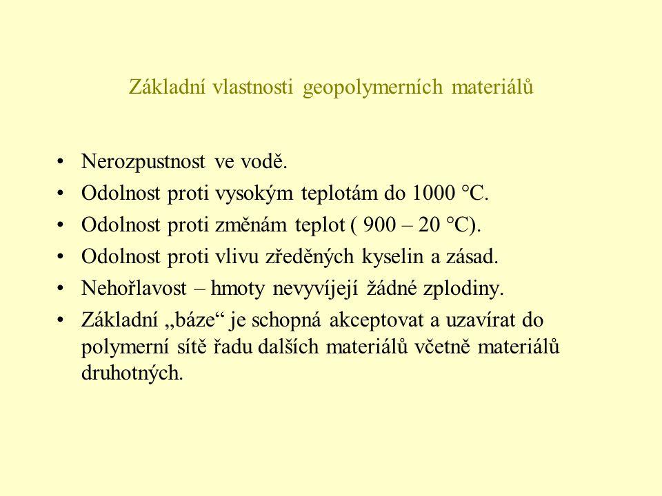 Základní vlastnosti geopolymerních materiálů