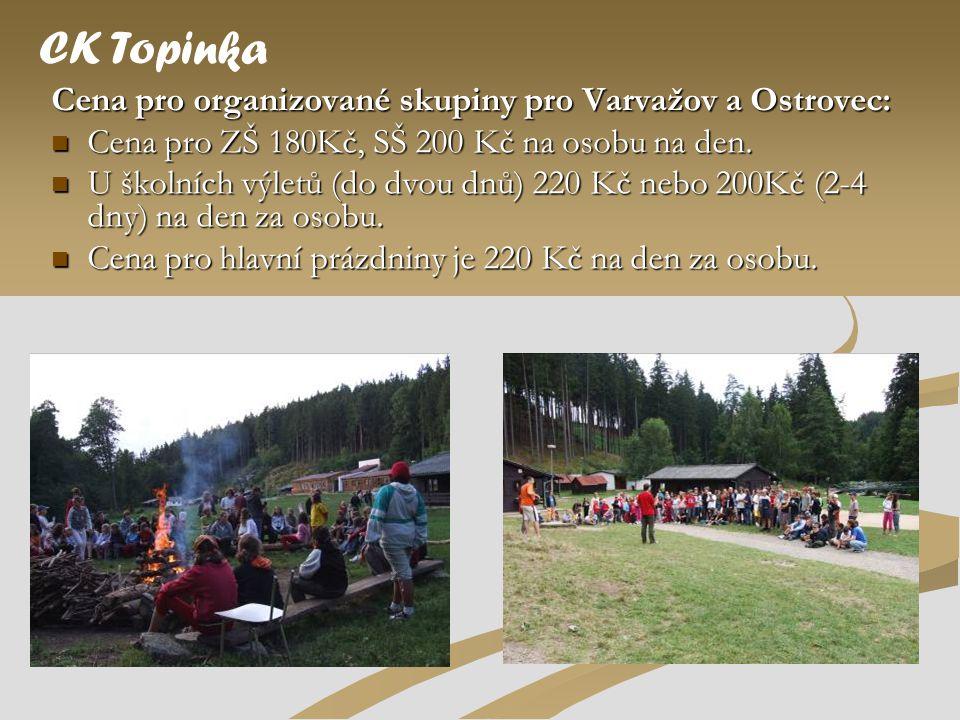 CK Topinka Cena pro organizované skupiny pro Varvažov a Ostrovec: