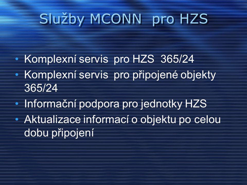 Služby MCONN pro HZS Komplexní servis pro HZS 365/24