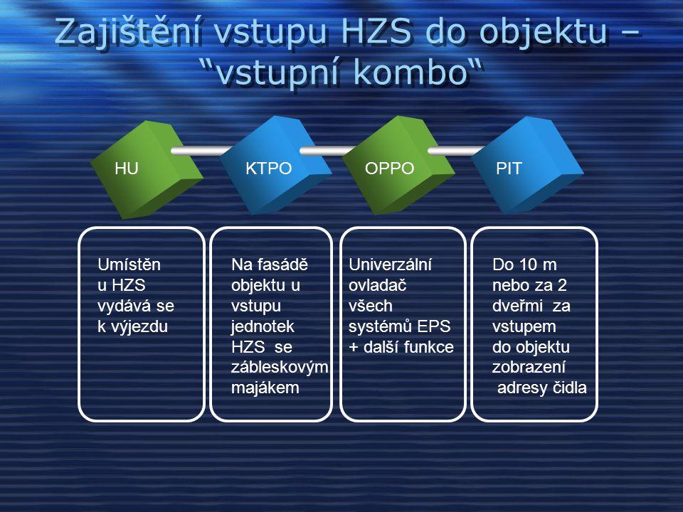 Zajištění vstupu HZS do objektu – vstupní kombo