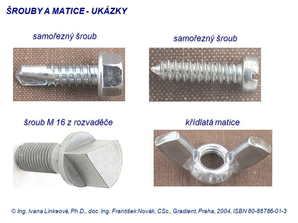 ŠROUBY A MATICE - UKÁZKY