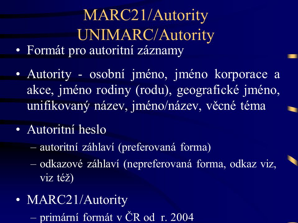 MARC21/Autority UNIMARC/Autority