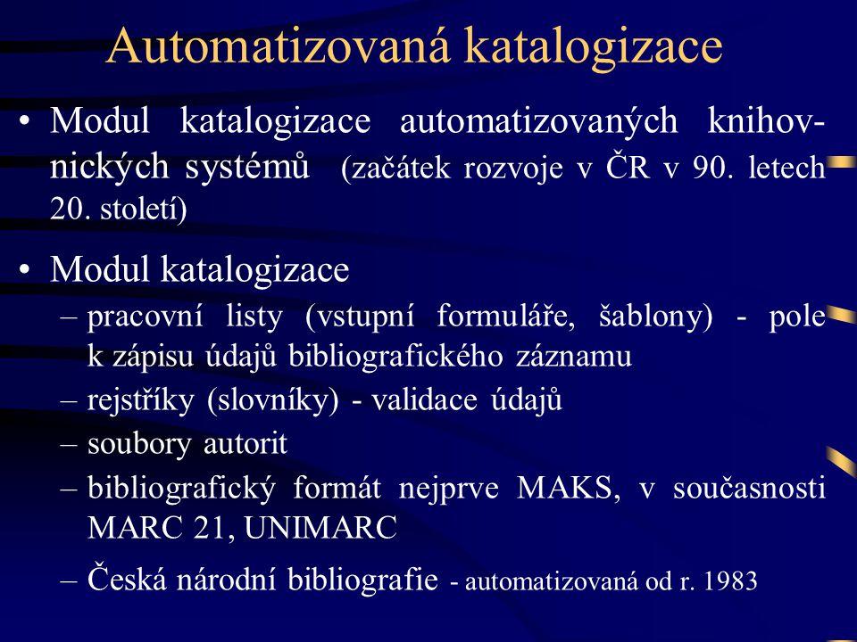 Automatizovaná katalogizace
