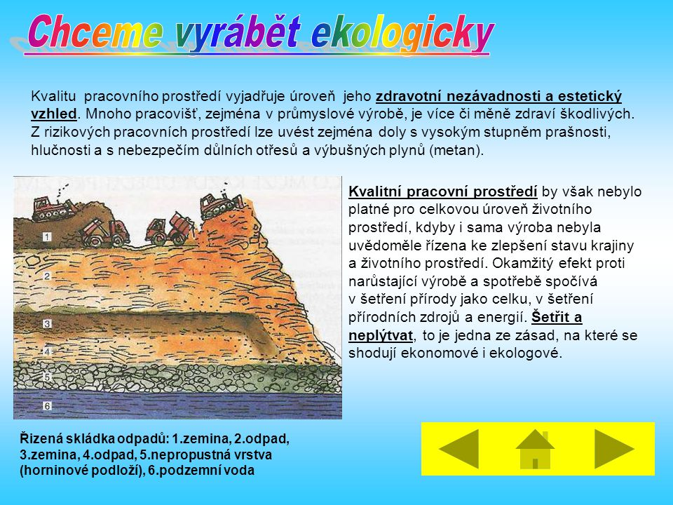 Chceme vyrábět ekologicky