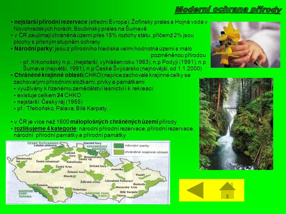 Moderní ochrana přírody