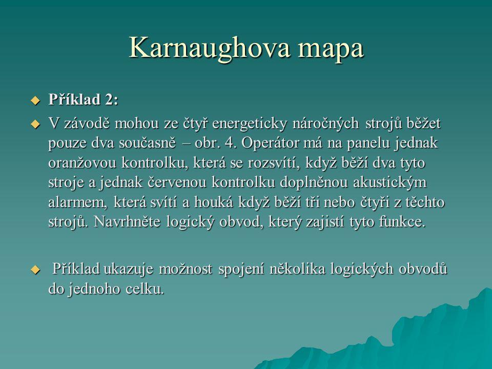 Karnaughova mapa Příklad 2: