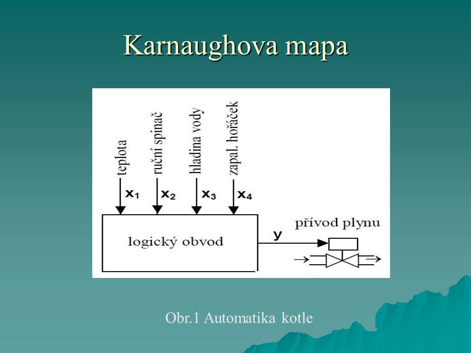 Karnaughova mapa Obr.1 Automatika kotle