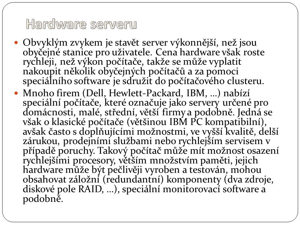 Hardware serveru