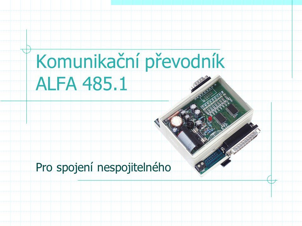 Komunikační převodník ALFA 485.1