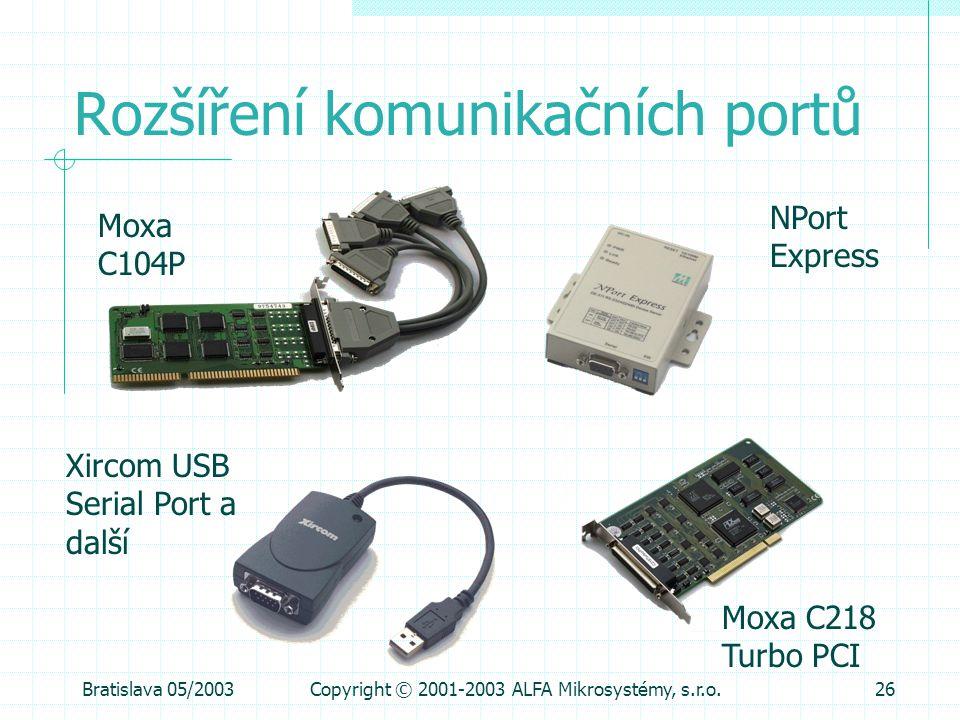 Rozšíření komunikačních portů