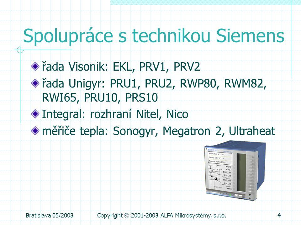 Spolupráce s technikou Siemens
