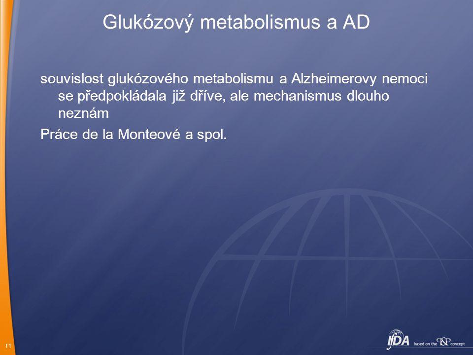 Glukózový metabolismus a AD