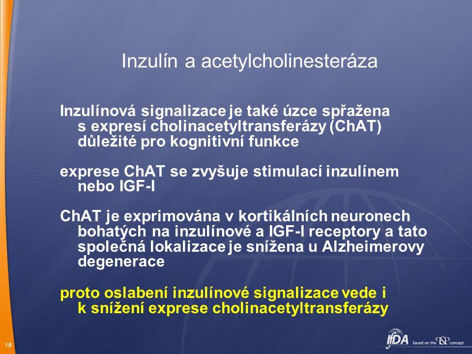 Inzulín a acetylcholinesteráza