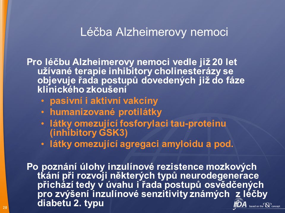 Léčba Alzheimerovy nemoci