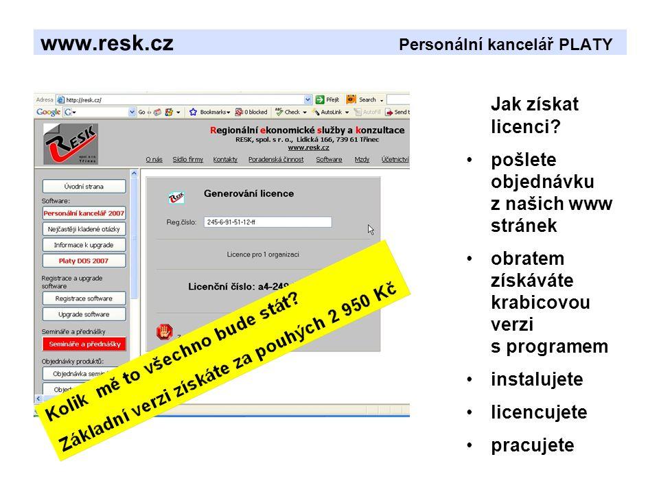 www.resk.cz Personální kancelář PLATY