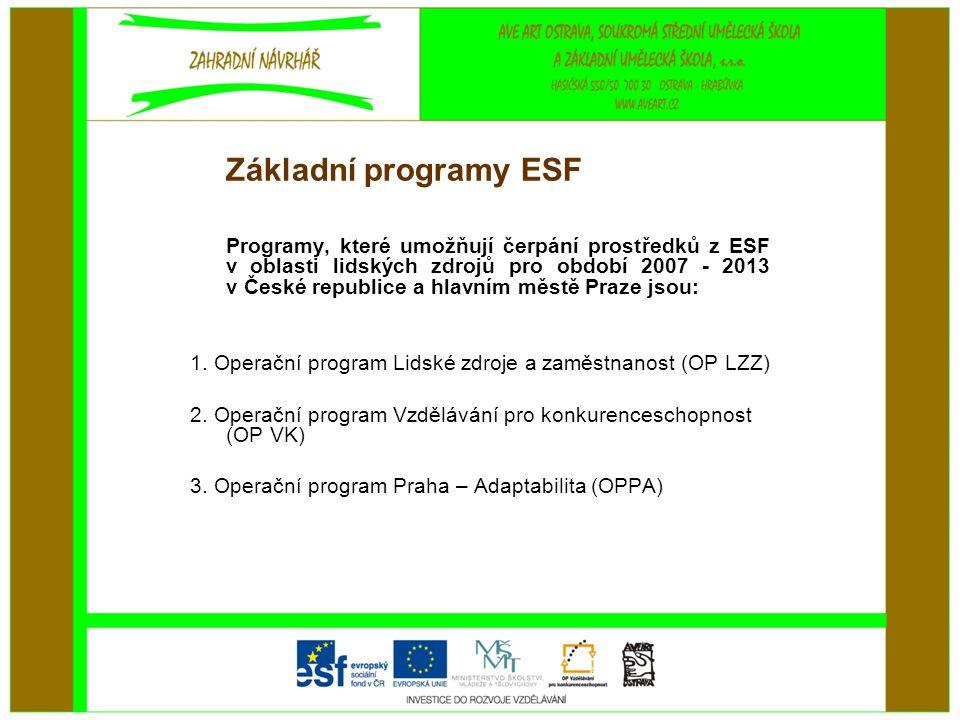 Základní programy ESF