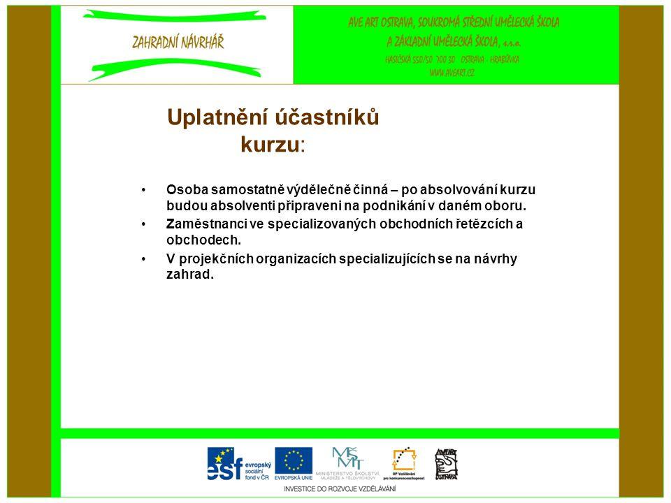 Uplatnění účastníků kurzu: