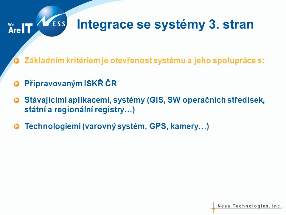 Integrace se systémy 3. stran