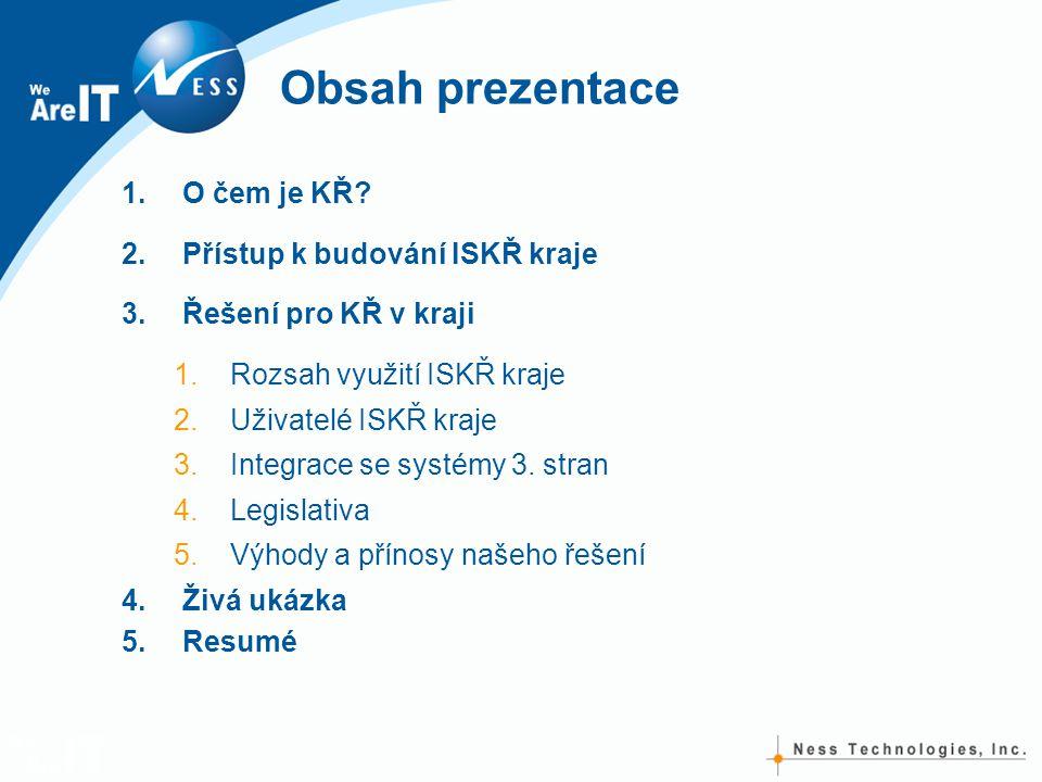 Obsah prezentace O čem je KŘ Přístup k budování ISKŘ kraje