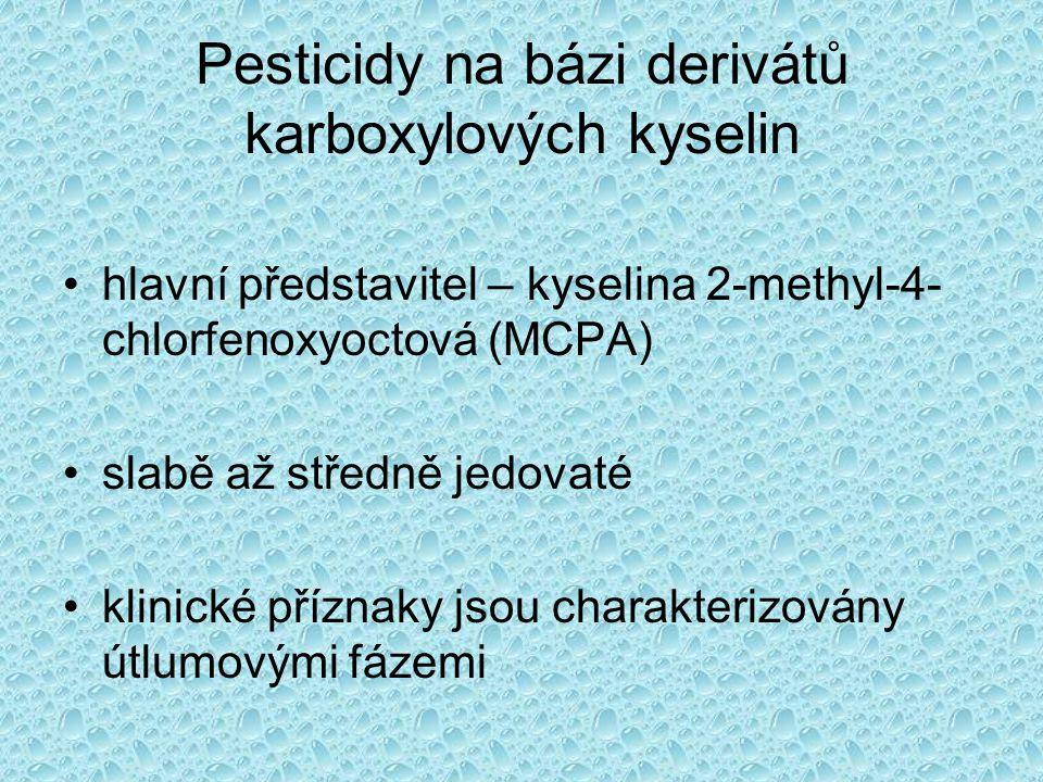 Pesticidy na bázi derivátů karboxylových kyselin