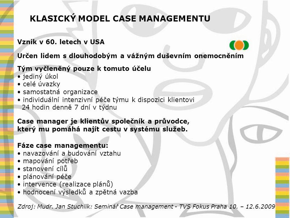 KLASICKÝ MODEL CASE MANAGEMENTU
