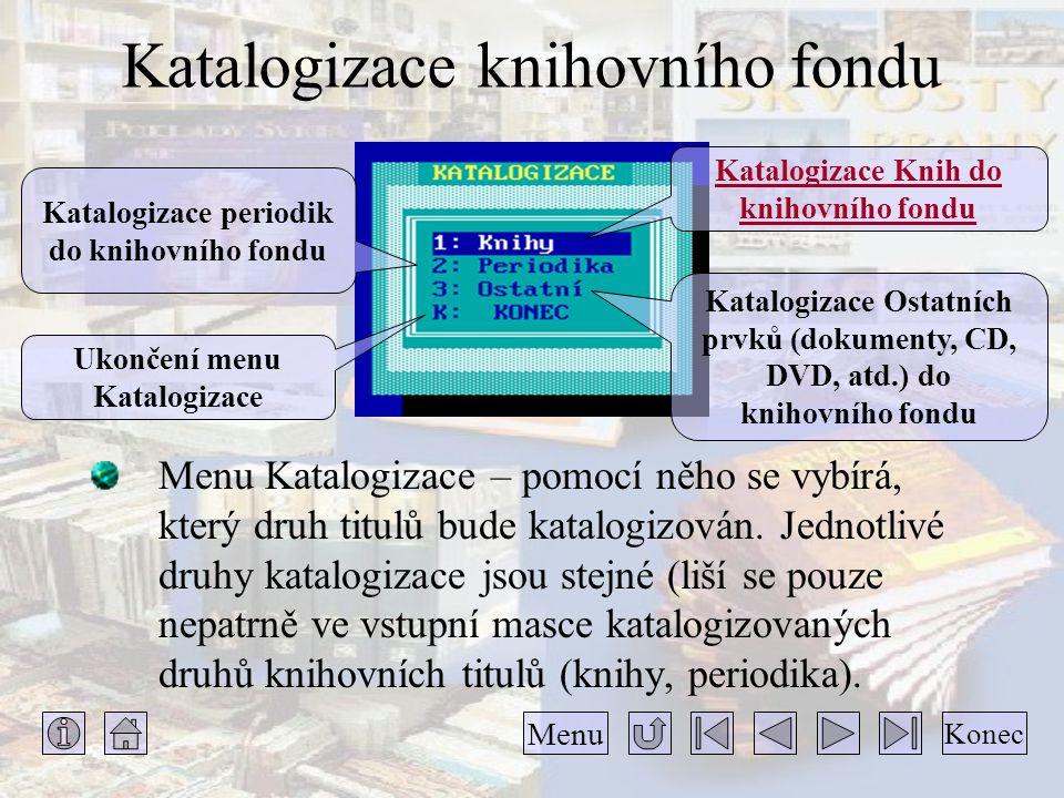 Katalogizace knihovního fondu