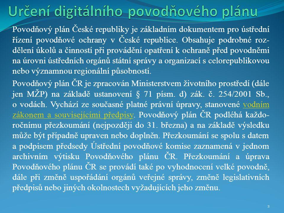 Určení digitálního povodňového plánu