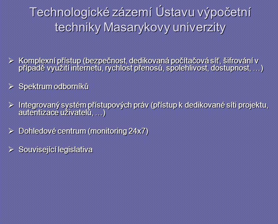 Technologické zázemí Ústavu výpočetní techniky Masarykovy univerzity